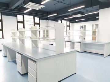 Epoxy Resin Lab Furniture ountertops สำหรับ Center Bench / Blue Color